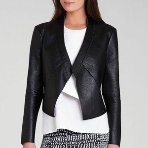 BCBGMAXAZRIA Lloyd Faux Leather Jacket sz: XXS